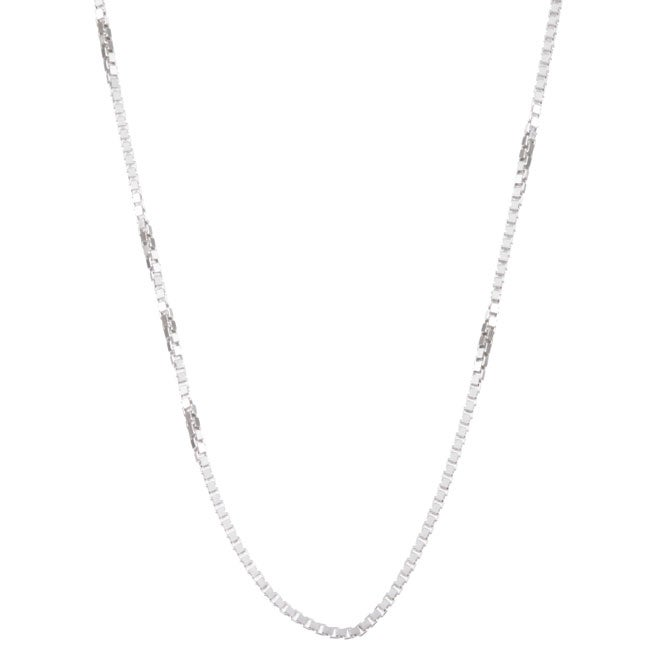 Sterling Essentials Sterling Silver 16-inch Venetian Box Chain (1.25mm)