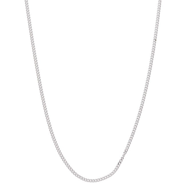 Sterling Essentials Sterling Silver 16-inch Curb Chain (1mm)