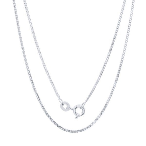 Sterling Essentials Silver 1 mm Curb Chain (16-20 Inch)
