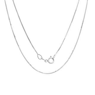 Sterling Essentials Sterling Silver 20-inch Box Chain (.70 mm)