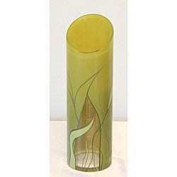 Hand-blown 12-inch Luscious Lime Glass Vase