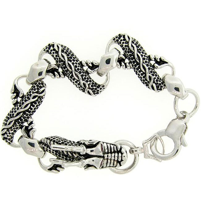 Meredith Leigh Sterling Silver Ruby Dragon Bracelet