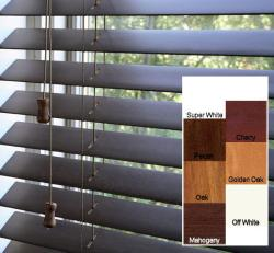 Safe-er-grip Customized Real Wood 17-inch Wide Window Blinds