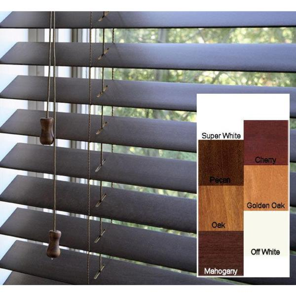 Arlo blinds safe er grip customized real wood 18 inch wide for Narrow windows for sale