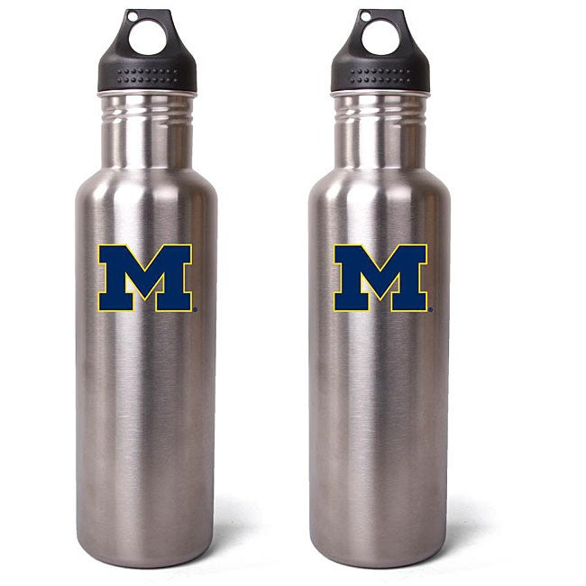 Pinemeadow Michigan Wolverines 27-oz Stainless Steel Water Bottles (Pack of 2)