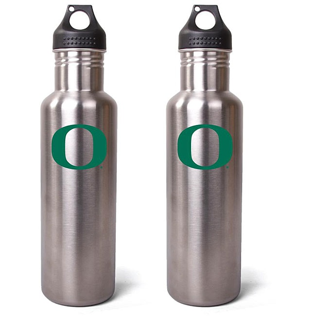 Pinemeadow Oregon Ducks 27-oz Stainless Steel Water Bottles (Pack of 2) - Thumbnail 0