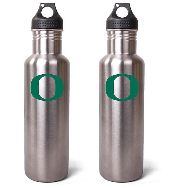 Pinemeadow Oregon Ducks 27-oz Stainless Steel Water Bottles (Pack of 2)