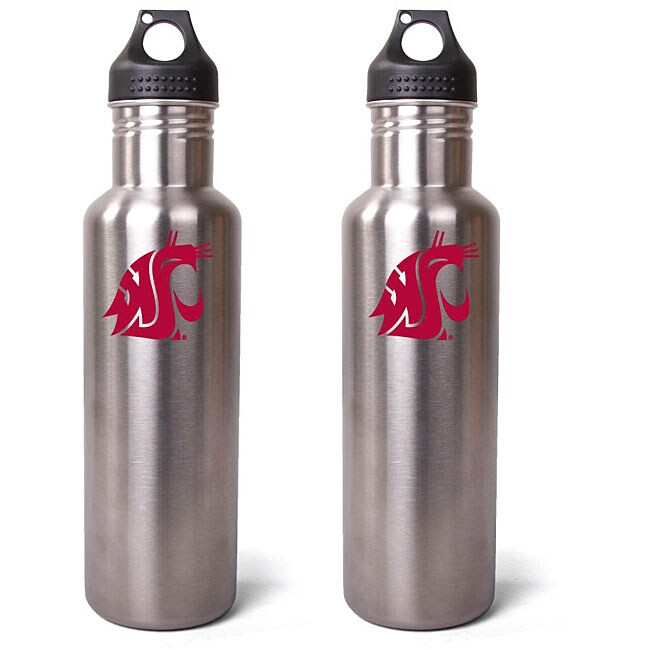 Pinemeadow Washington State Cougars 27-oz Stainless Steel Water Bottles (Pack of 2)