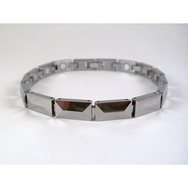 Tungsten Uni Magnetic Pyramid Bracelet