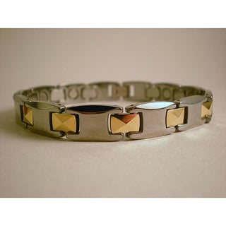 Tungsten Unisex Laced Two-tone Magnetic Bracelet