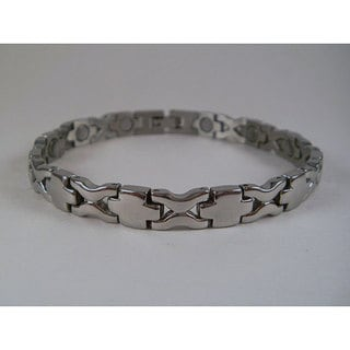 Stainless Steel Unisex Crosswave Magnetic Bracelet