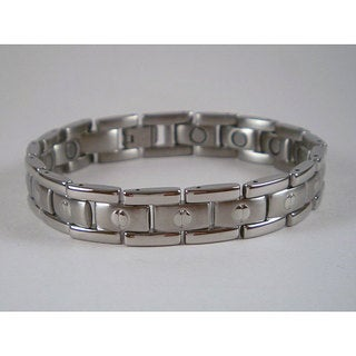 Stainless Steel Unisex Screwhead Magnetic Bracelet