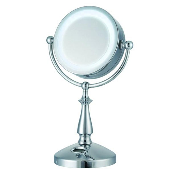 E-Ware 24 LED Lighted 10x-1x Touch Control Makeup Mirror w/ Clock