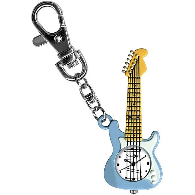 Dakota Yoshi Oshi Children's Blue Guitar Charm Clock