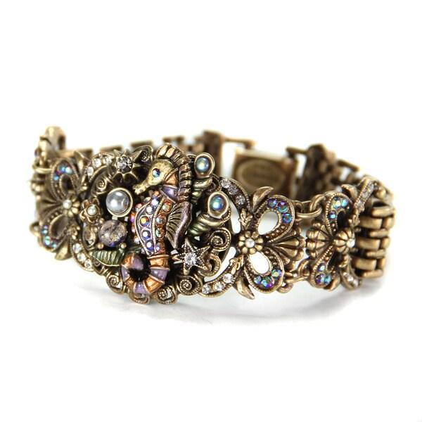 Sweet Romance Art Deco Seahorse Beach Boho Bracelet