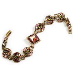 Sweet Romance Topaz Crystal  Retro Bracelet