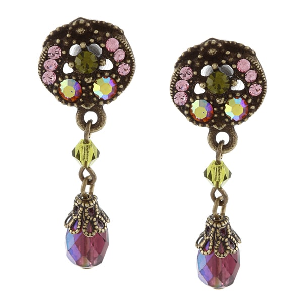Sweet Romance Aurora Crystal  Retro Drop Earrings