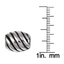 Sterling Essentials Sterling Silver Diagonal Bead - Thumbnail 2