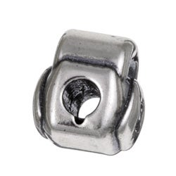 Sterling Essentials Sterling Silver Heart Padlock Bead - Thumbnail 1