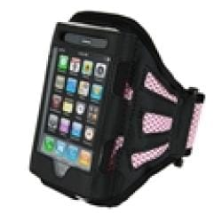 INSTEN Black/ Pink Armband for Apple iPhone/ iPod Touch