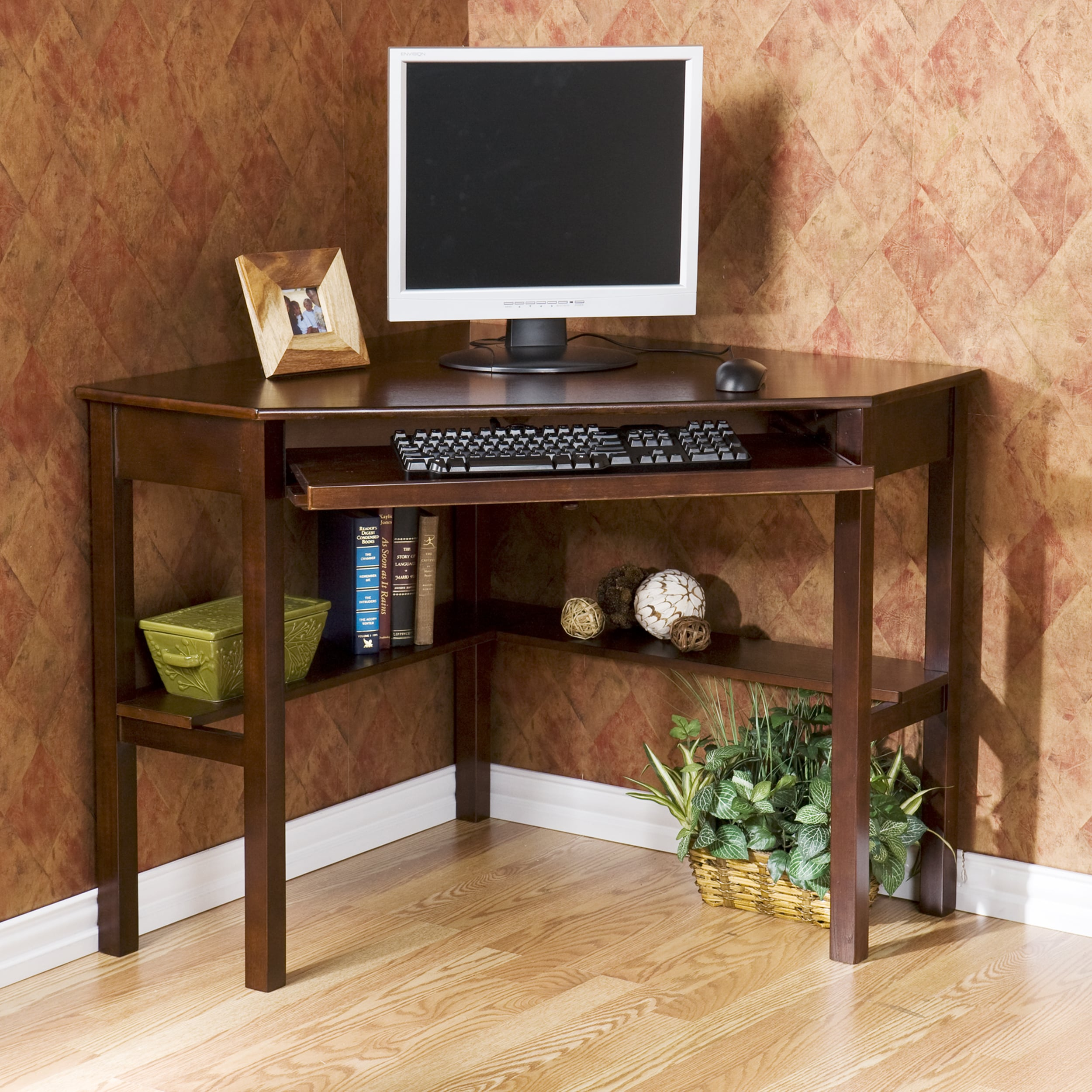 Shop Havenside Home Horseshoe Espresso Wood Corner