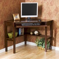 Havenside Home Horseshoe Espresso Wood Corner Computer Desk