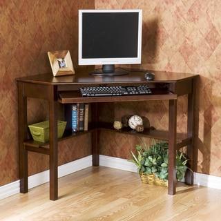 Nice Havenside Home Horseshoe Espresso Wood Corner Computer Desk