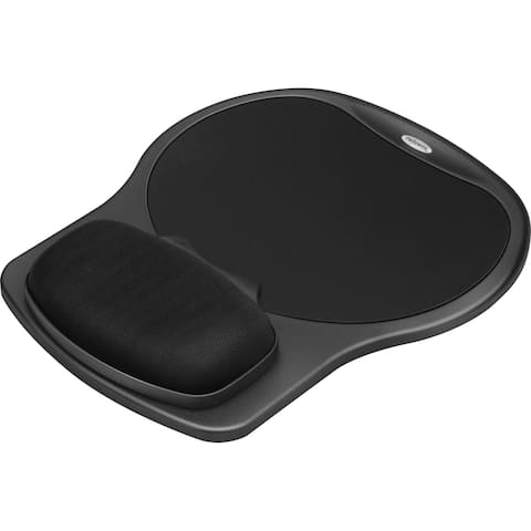 Fellowes Easy Glide Gel Wrist Rest and Mouse Pad - Black