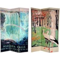 Handmade Canvas Double-sided 6-foot Niagara Falls/ Kew Room Divider (China)