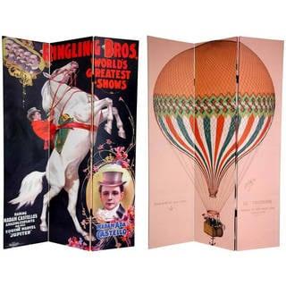 Handmade 6' Canvas Circus Room Divider