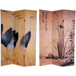 Handmade 6' Canvas Cranes Room Divider