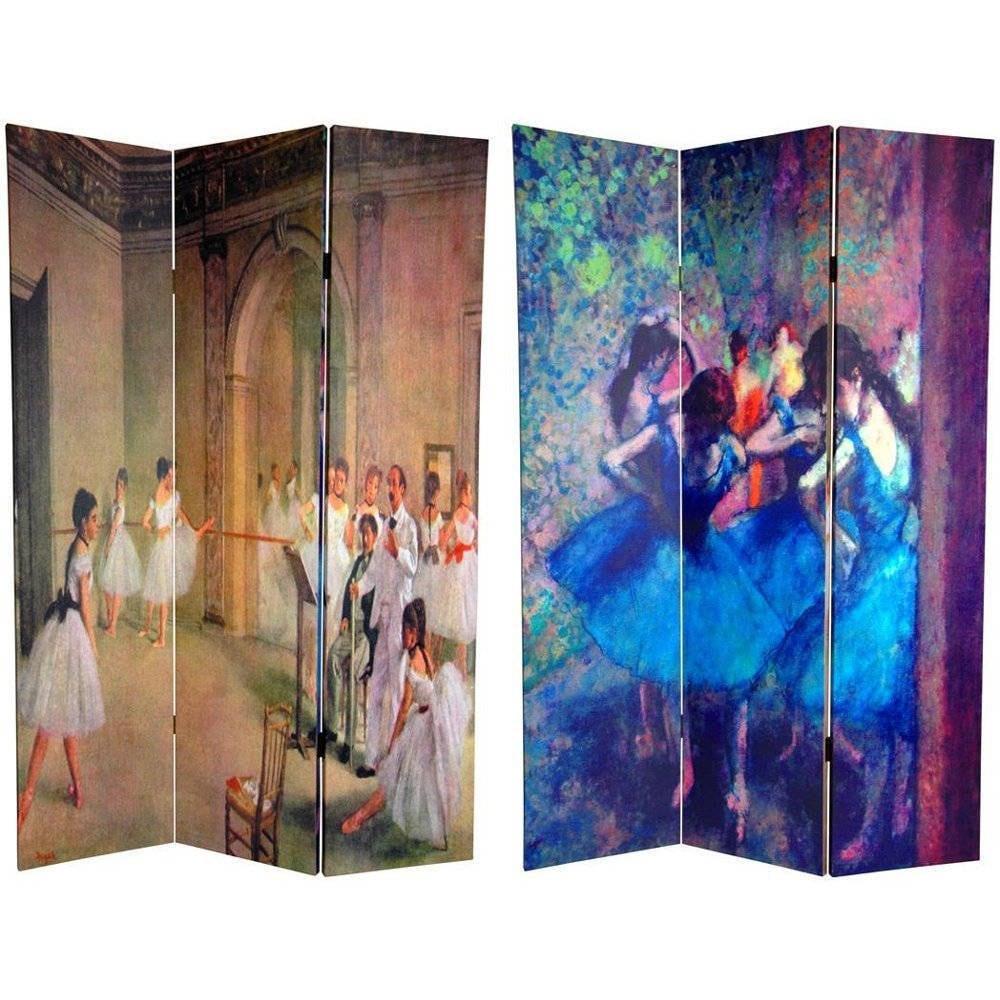 Oriental FURNITURE Handmade Canvas Double-sided 6-foot Da...