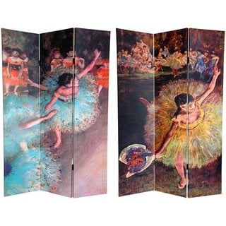 Canvas Double-sided 6-foot Arabesque Works of Degas Room Divider (China)