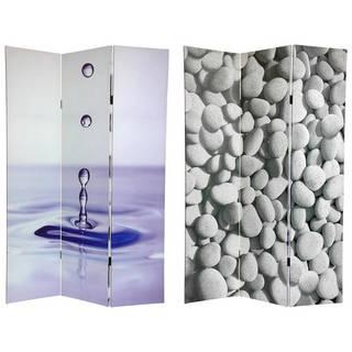 Handmade 6' Canvas Water Zen Room Divider