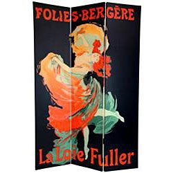 Double-sided 6-foot Moulin Rouge Canvas Room Divider (China) - Thumbnail 1