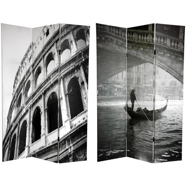 Canvas Double-sided 6-foot Coliseum and Canal Room Divider (China)