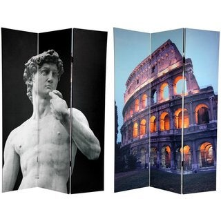 Canvas Double-sided 6-foot Coliseum and David Room Divider (China)