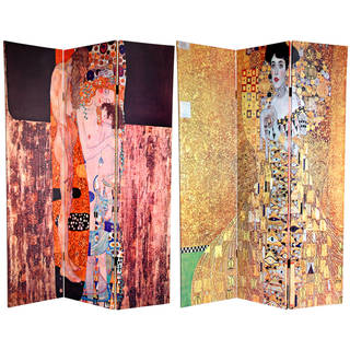 Handmade Handmade 6' Bloch-Bauer and Three Ages of Woman Room Divider