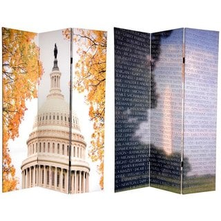 Double-sided 6-foot Vietnam/ Capitol Building Room Divider (China)