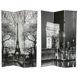 Handmade Canvas 6-foot Eiffel Tower/ Arc de Triomphe Room Divider (China)