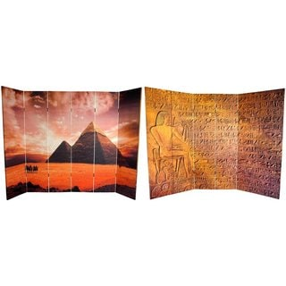 Canvas Double-sided 6-foot Egyptian Pyramid Room Divider (China)
