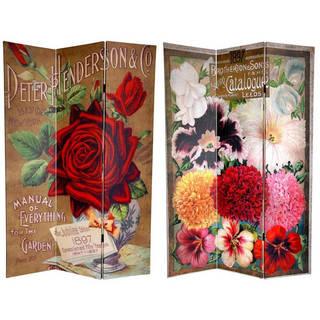Handmade 6' Canvas Rose Flower Seeds Room Divider