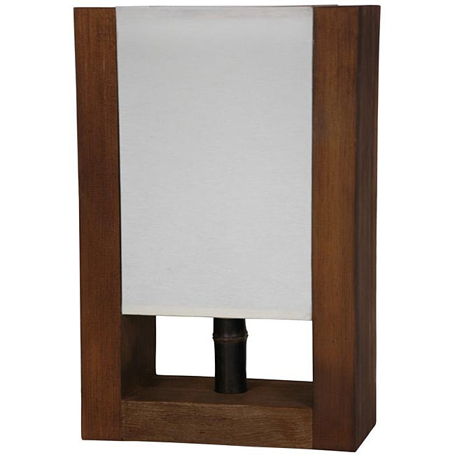 Handmade Wood Modern-style 15-inch Zen Decorative Lamp (China)