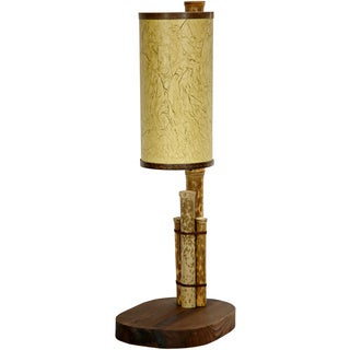 Handmade Bamboo Pole 21-inch Kobe Table Lamp (China)
