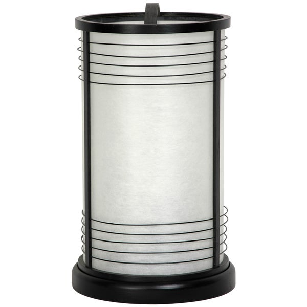 Handmade Japanese-style 14-inch Black Shinjuku Shoji Lantern Lamp (China)