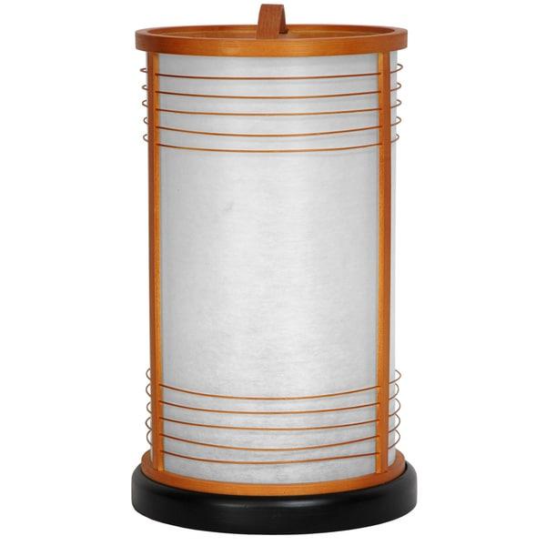 Handmade Japanese-style 14-inch Natural Shinjuku Shoji Lantern Lamp (China)