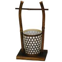 Handmade Japanese-style 15-inch Rice Bucket Lantern Lamp (China)