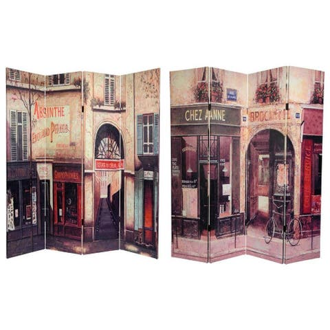 Handmade 6' Canvas French Cafe Room Divider