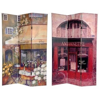 Handmade Canvas Double-sided Brasserie Room Divider (China)