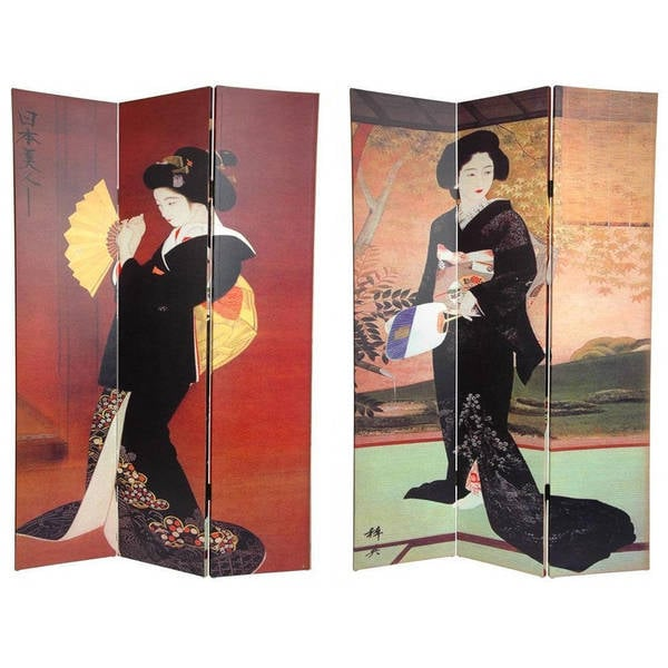 Shop Handmade Canvas Double sided Japanese Room Divider China